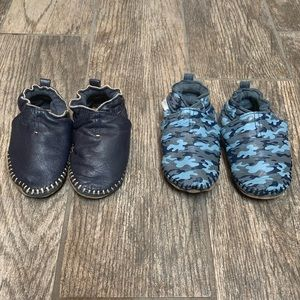 Two Pairs of Robeez 18-24 Month Classic Moccasins.